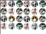 24 x Dirty Dancing  1.6'' rice paper cake  top toppers